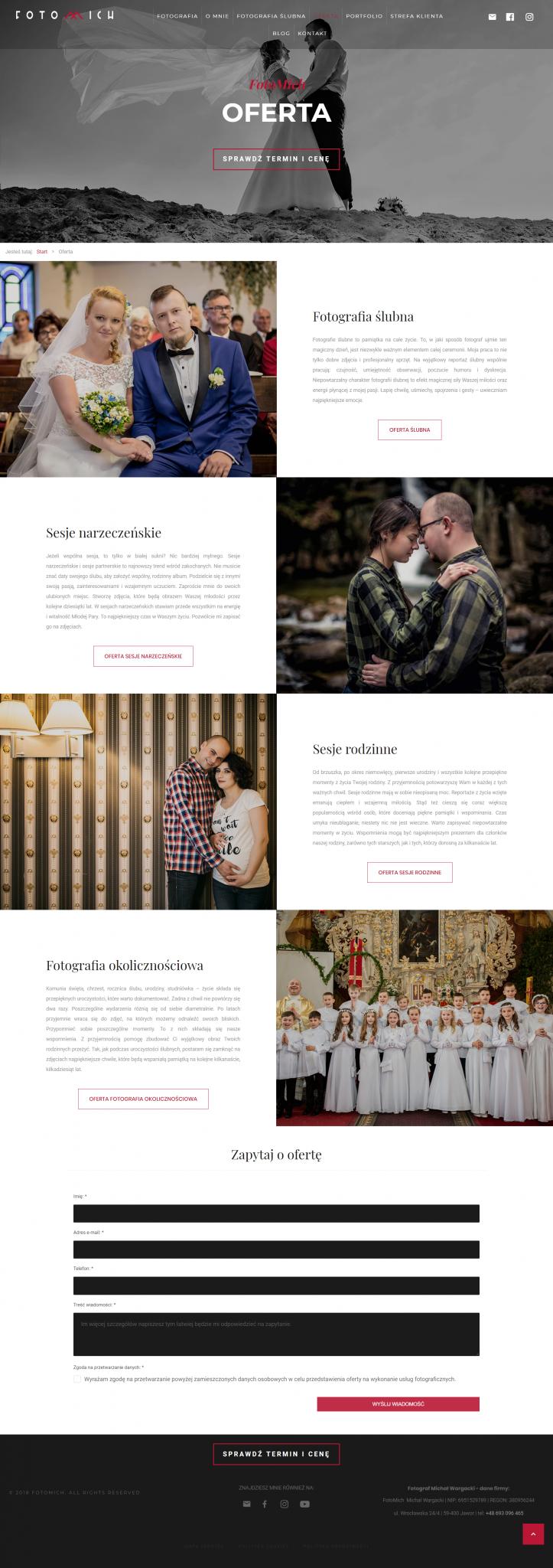 teksty na stronę www - branża ślubna