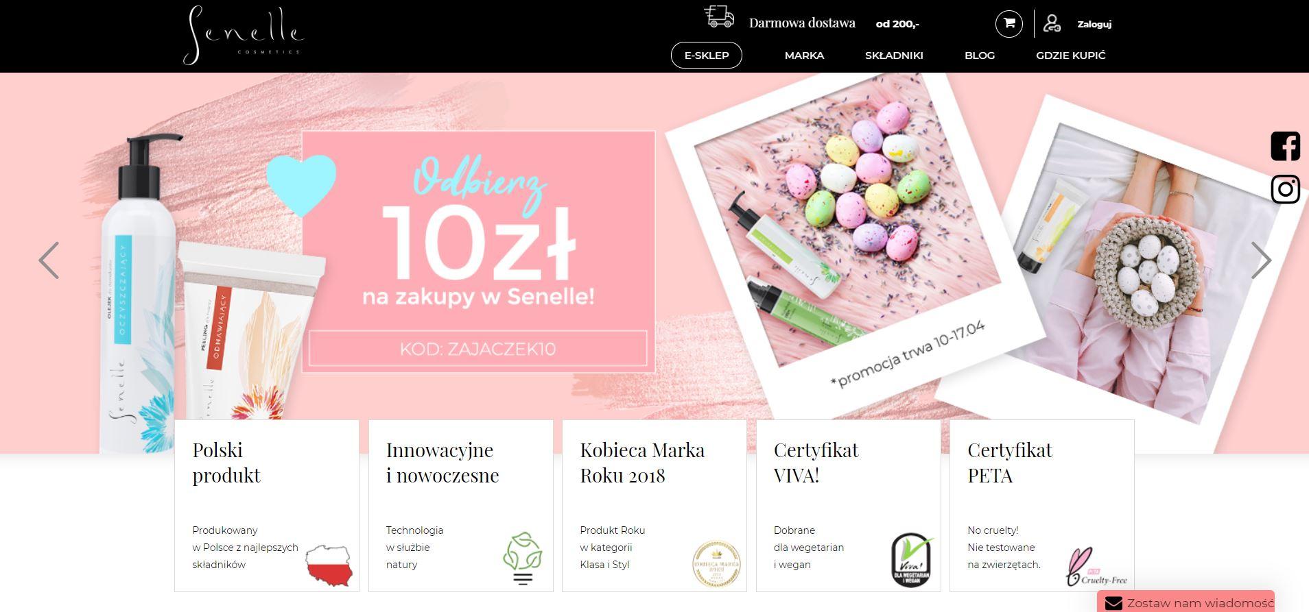 teksty na strone www branza kosmetyczna
