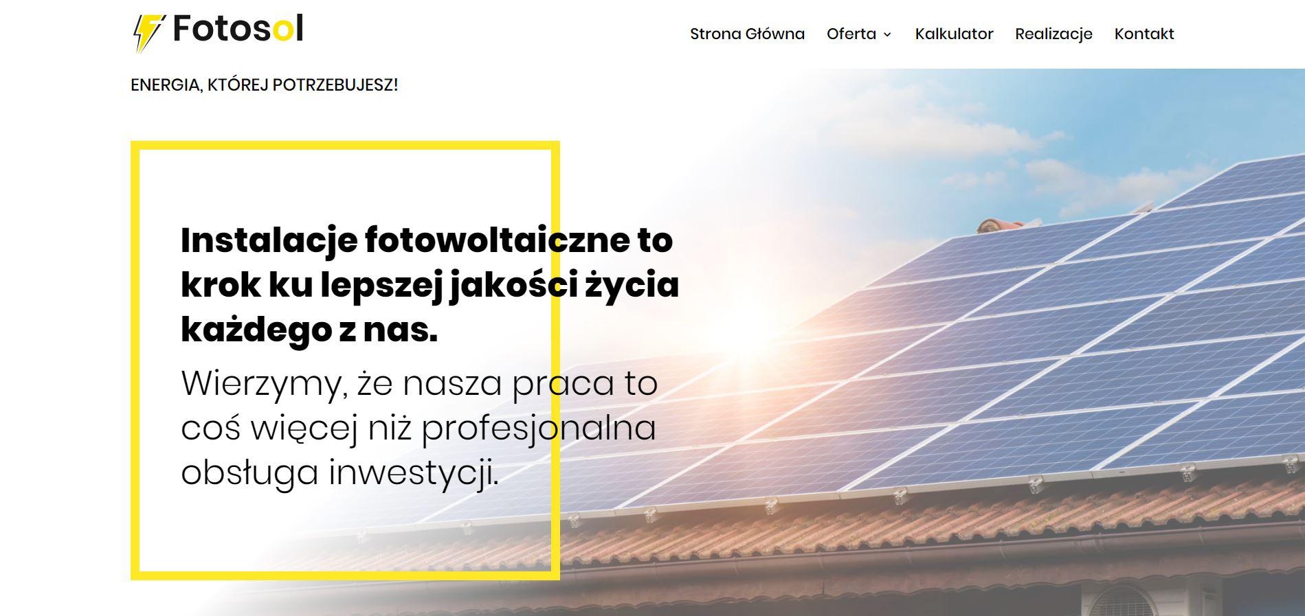 Teksty na stronę www - fotowoltaika