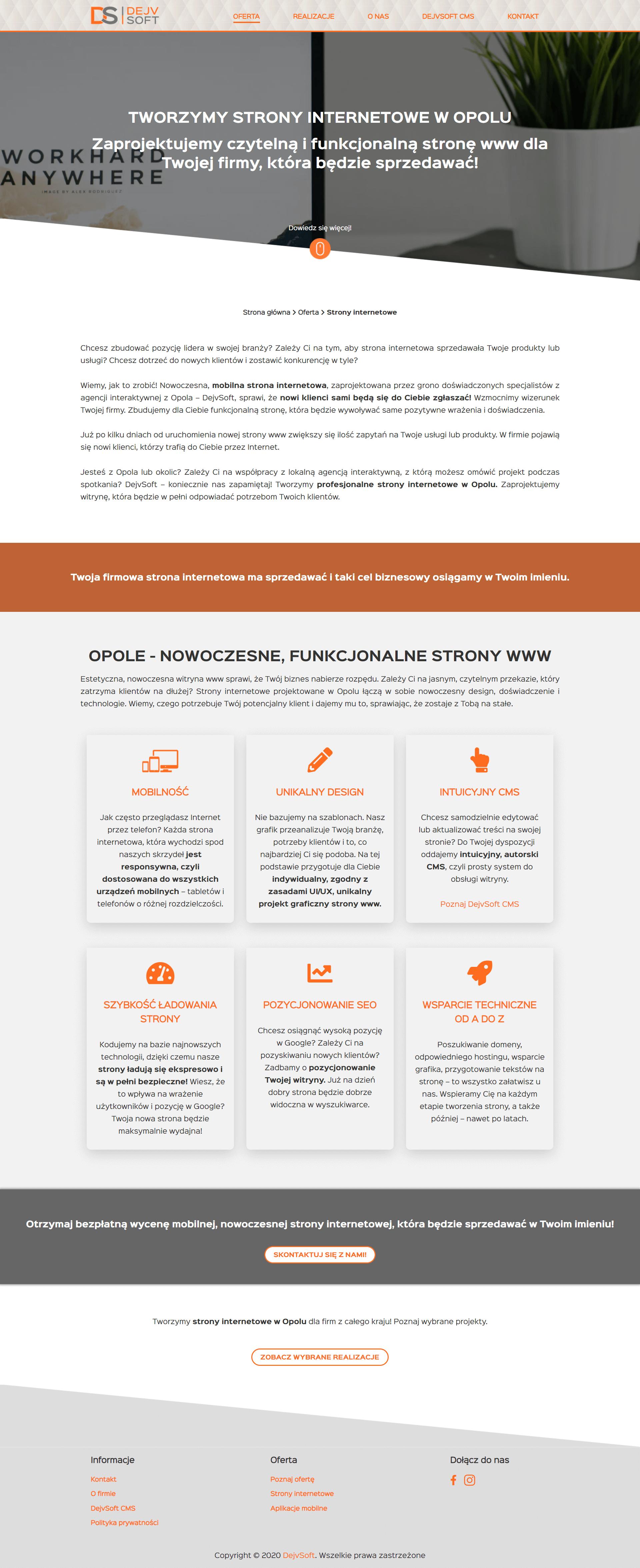 strony internetowe - teksty copywriting